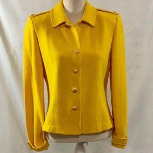 St. John Collection Marie Gray Sweater Jacket Sz 8